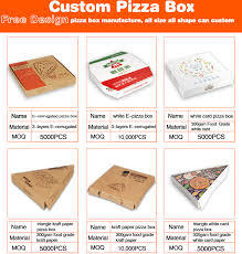 personalized pizza boxes cheaper made recycle e flute paper corrugated pizza boxes