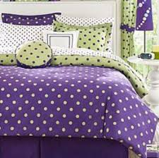 Purple Girls Bedding by Toddler Bedroom Periwinkle Purple Polka Dots