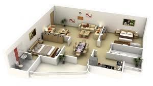 appartement 2 chambre 50 plans 3d d appartement avec 2 chambres