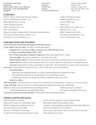 Gymnastics Coach Resume Sample Resume For Fitness Instructor Tremendous Personal Trainer