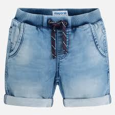 light wash denim shorts denim shorts with lightwash for boy soft denim mayoral