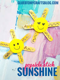 make some sunshine with your child today simply glue popsicle