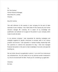 sample cover letter example template 29 free documents download