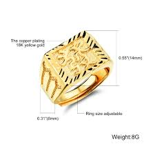 aliexpress buy fashion big size 18k gold plated men opk men gold color jewelry rings for exquisite men s ring get