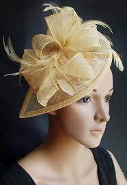 fascinators for hair chagne gold sinamay fascinator hair accessory with feathers for