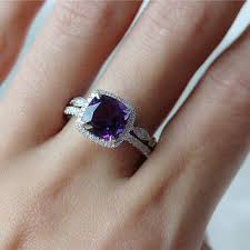 amethyst engagement ring sets best amethyst eternity ring products on wanelo
