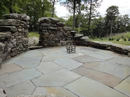 Building Stone Patio by Stone Patios And Pathways