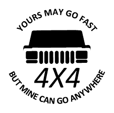 jeep cherokee logo go anywhere vinyl decal 4wd 4x4 funny sticker fits jeep cherokee