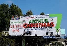 daily billboard bonus day arthur christmas movie billboards