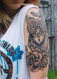 43 best owl half sleeve tattoos for images on