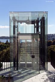 Full View Exterior Glass Door by Exterior Glass Lift Or Elevator Is A Nice Way To Get Down To The