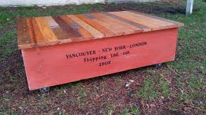 shipping crate coffee table shipping crate styled coffee table reclaimed wood