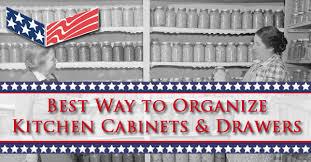 Organize Kitchen Cabinets - best way to organize kitchen cabinets u0026 drawers drawer connection