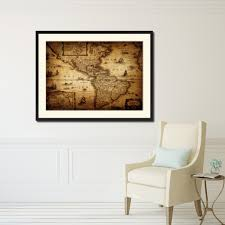 america vintage antique map wall art bedroom home decor gift ideas