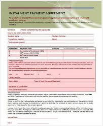 sample installment contract forms 9 free documents in word pdf