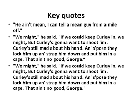 Curley S Quotes Of Mice And Men By John Steinbeck The Ultimate Revision Ppt