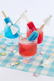 blue cocktails fourth of july tassel stir sticks u0026 popsicle cocktails