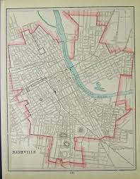 Nashville Tennessee Map by Prints Old U0026 Rare Nashville Tn Page