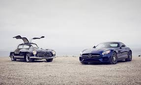 1955 mercedes benz 300sl gullwing vs 2016 mercedes amg gt s