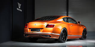 orange bentley tuning of bentley continental with wheels and exhaust wheelsandmore