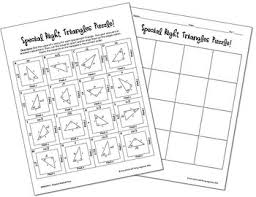 special right triangles puzzle by all things algebra tpt