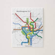 washington dc map puzzle subway jigsaw puzzles zazzle
