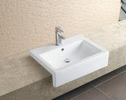 semi recessed bathroom sinks stratos large semi recessed basin semi recessed basins