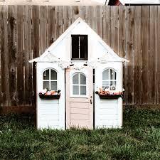 kids playhouse playhouse diy playhouse makeover white playhouse