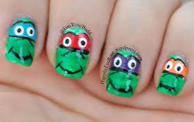 ninja turtles nail art u2013 happilyeverose