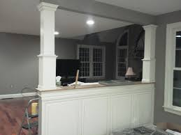 Kitchen Half Wall Ideas Half Wall Into Kitchen Half Walls Between Rooms For The House
