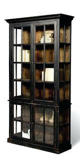 Bookcase With Doors Black Uncategorized Black Bookcase With Doors Wonderful Pertaining