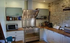 cuisine bois et inox cuisine bois et gallery of cuisine blanc et bois