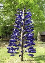 Blue Bottle Chandelier by Glass Bottle Christmas Tree Christmas Lights Decoration