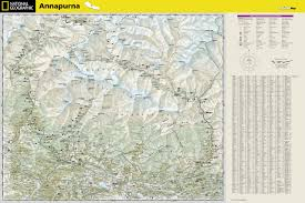 Maps Nepal by Annapurna Nepal National Geographic Adventure Map National