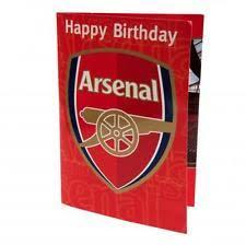 arsenal birthday card music ebay
