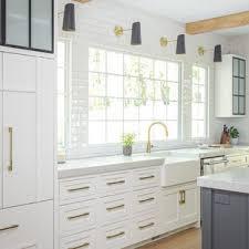 kitchen backsplash ideas with white cabinets houzz 75 beautiful single wall kitchen with subway tile backsplash