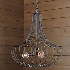 Wire A Chandelier Large Wire Pendant West Elm