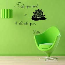buddha quotes lotus wall decals rule your mind yoga studio gym