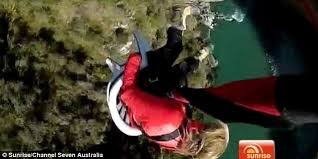 New Zealand Chair Swing Samantha Armytage Is Thrown From A Cliff Face In Canyon Swinging