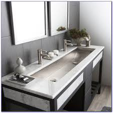 trough bathroom sink with two faucets canada bathroom home