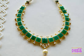 green necklace set images Buy gorgeous green necklace set in kundan and pearl our purple jpg