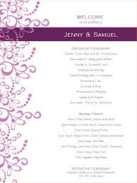 wedding program outline template 6 wedding programs templates outline templates