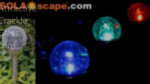 solascape com solar powered crackle glass color changing path