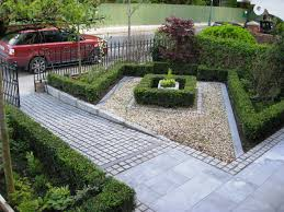 decor small yard design with stone borer and beautiful mini