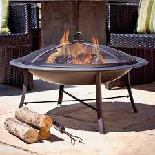 Chiminea Cover Lowes by Shop Jeco 30 In W Black Steel Wood Burning Fire Pit At Lowes Com