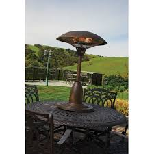 Tabletop Electric Patio Heater by Table Patio Heater La Hacienda Table Top Electric Patio Heater