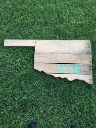 oklahoma wood oklahoma pallet wood sign by twowivesshop on etsy pallet