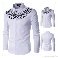designer shirts hight quality 2017 fashion printing shirt
