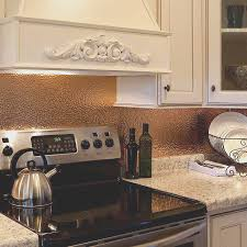backsplash best hammered copper backsplash kitchen remodel