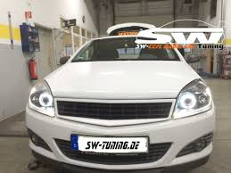 opel astra 2004 sw angel eye headlights opel astra h 04 11 high led halo rim